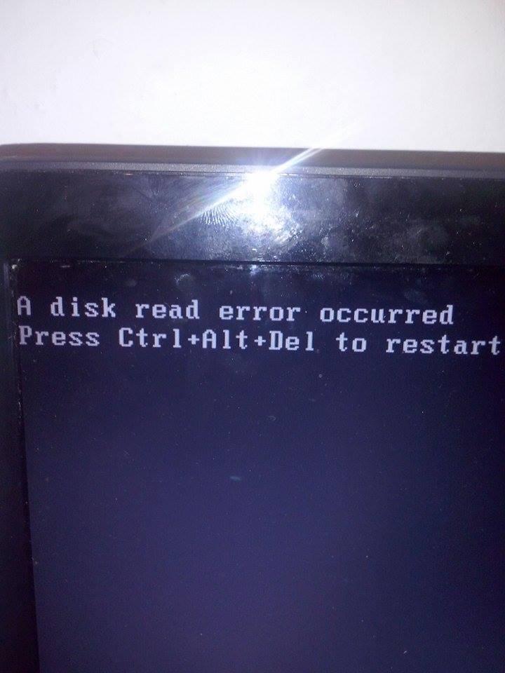 Disk read error