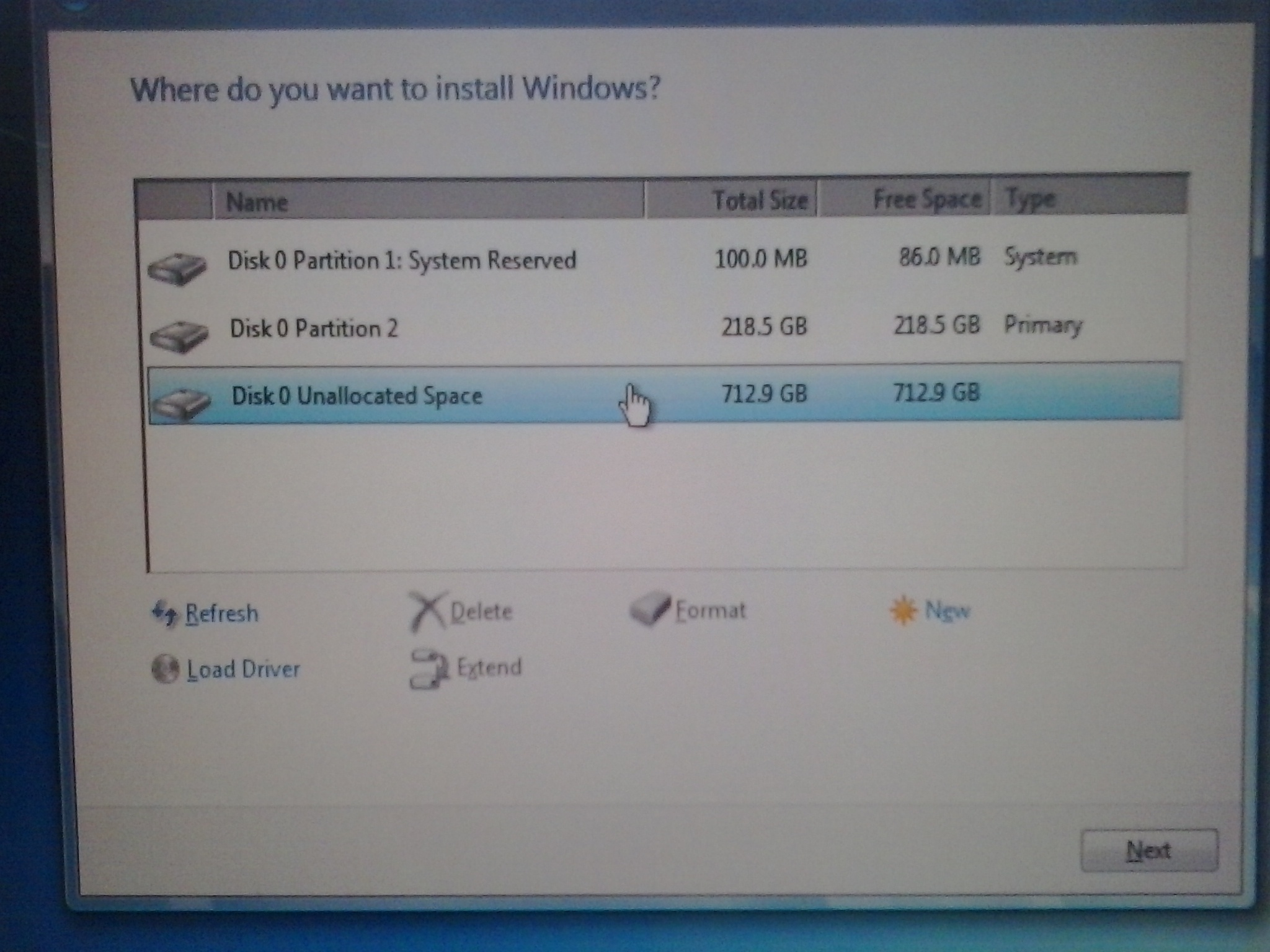 Disk recovery unknown file system