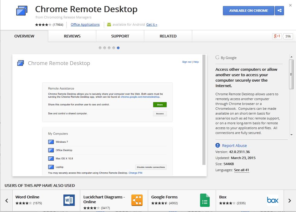 remote desktop via iPhone