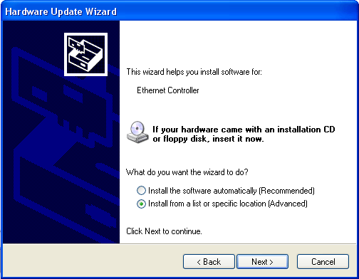 choice install driver