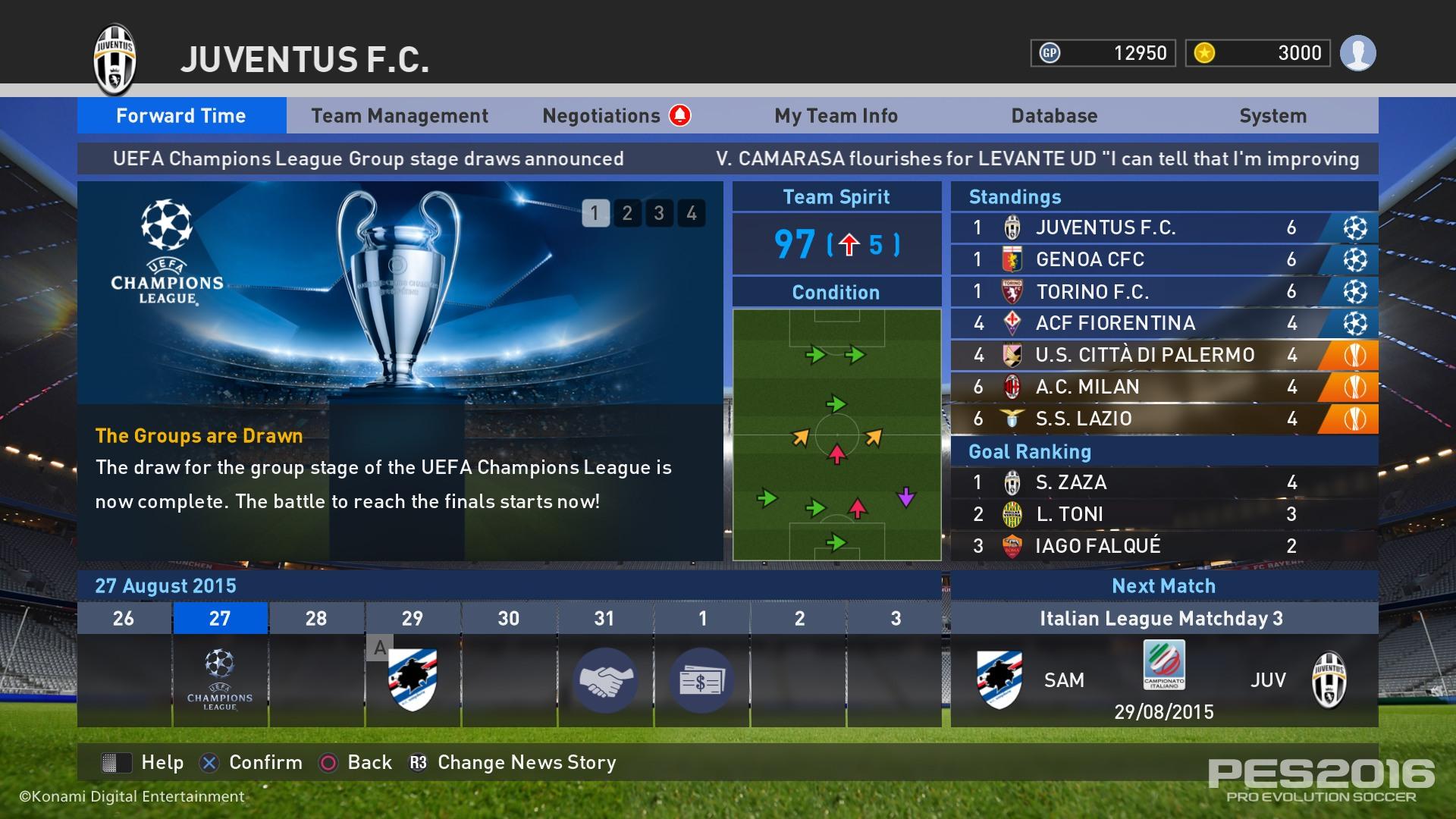 Pro evolution soccer Master league