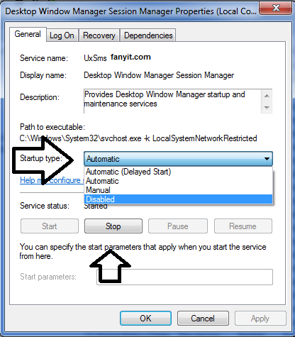 How to disable dwm.exe