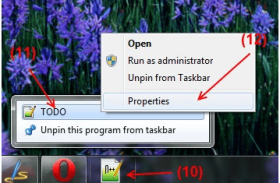 How to Pin Documents or File to Taskbar (Windows 7)