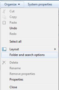 hidden file in my computer Windows 7