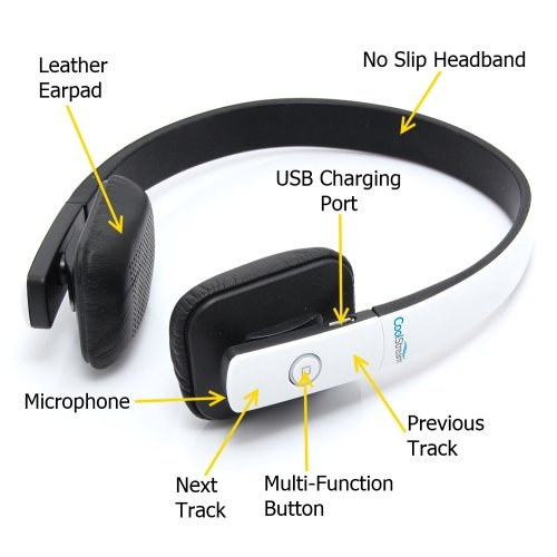 The CoolStream Bluetooth Stereo Headphones