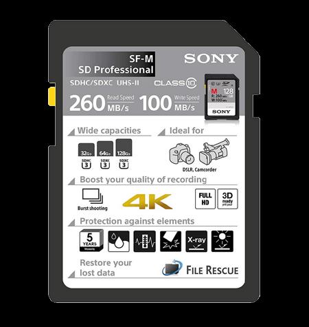 Memory Cards Sony 64GB SDXC UHS-II Class 10