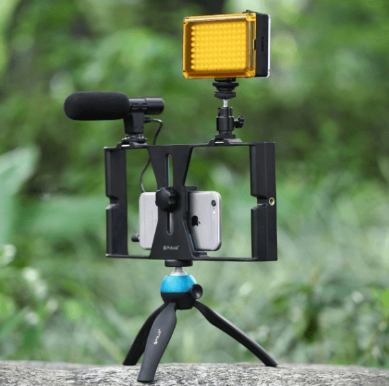 PULUZ Smartphone Video Rig with LED Studio Light Kits