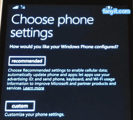 Choose Phone Settings