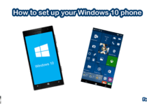 How to set up your Windows 10 phone