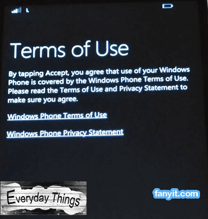 Terms of use Windows 10 mobile