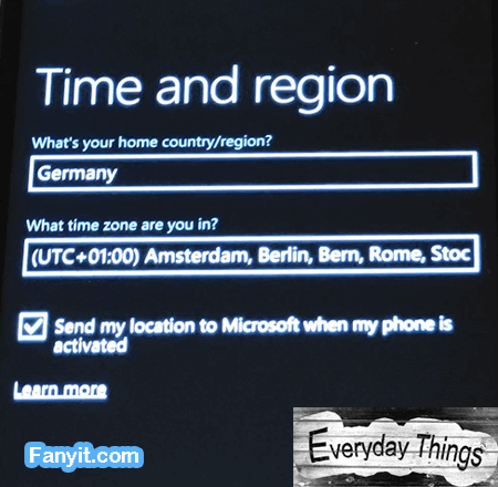 Time and Region