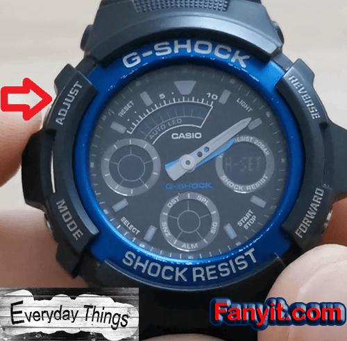 G-Shock adjust