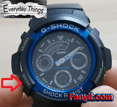G-shock mode time zone