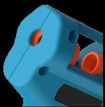 Hot Glue Gun Smooth Round Socket + Silicone Suction