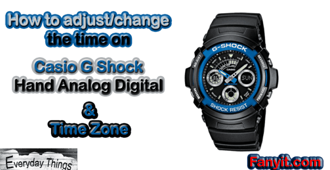 How to adjust or change the analog-digital time on Casio G-shock
