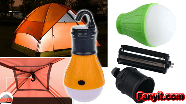 Portable LED camping lights with battery review and test